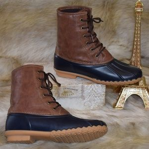 ORIGINAL WEATHERPROOF VINTAGE Duck Boots Blue Tan